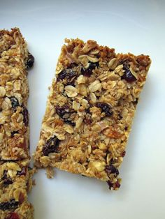 Homemade granola bars.  Seems too easy and healthy