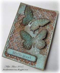 Addicted to Art: Life is Good using Tim Holtz, Ranger, Idea-ology, Sizzix and Stamper's Anonymous products; Mar 2015