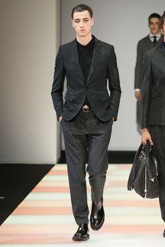 Emporio Armani Fall 2015 Menswear Fashion Show: Complete Collection - Style.com