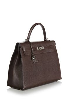 Hermes 35 Cm Cocoan Chevre Leather Kelly by HERITAGE AUCTIONS SPECIAL COLLECTION for Preorder on Moda Operandi