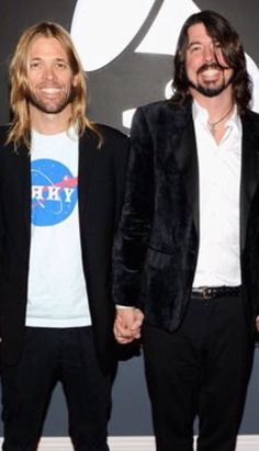 These two. Dave Grohl and Taylor hawkins. Bromance.