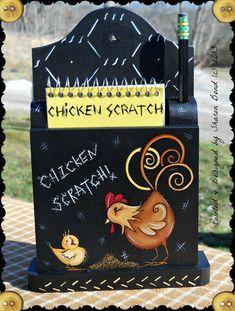 E PATTERN - Chicken Scratch - New  Cute Year Round Design by Sharon Bond