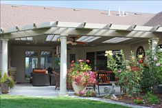 patio with skylights   Solid Covers   Patio Covers Unlimited Spokane