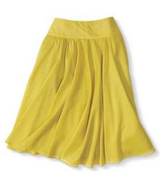 If you're petite and curvy…try a nipped-in waist #skirt #fashion #yellow