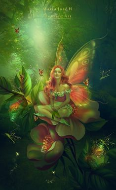 Fantasy is hardly an escape from reality. It's a way of understanding it. Beautiful Fantasy Art, Beautiful Fairies, 3d Fantasy, Fantasy World, Magical Creatures, Fantasy Creatures, Fairy Wallpaper, Fairies Photos, Fairy Pictures
