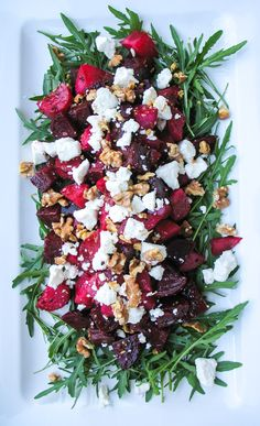 Roasted Beetroot, Goat Cheese, and Walnut Salad
