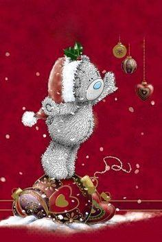 Daughter Me to You Bear Christmas Card Christmas Drawing, Christmas Art, Christmas Decorations, Christmas Ornaments, Tatty Teddy, Decoupage, Teddy Bear Pictures, Christmas Labels, Christmas Pictures
