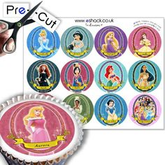 12 x PRE-CUT Disney Princess Cake Toppers Decorations - Really easy to use, these cake toppers feature all of your favourite Disney Princesses and are perfect for Parties or just for fun! For best results simply pop out carefully and affix to icing, marzipan or buttercream on top of your cake or cupcakes. eShack toppers are perfect for all occasions... - http://irishcakesupplies.com/wp-content/uploads/2013/12/61EMjAO0lOL.jpg - #12, #Cake, #Decorations, #Disney, #PRECUT, #Prin