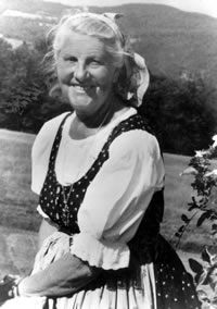 Maria von Trapp - Stowe, VT - in the early '80's Jim was privileged to be involved with some of the von Trapp family celebrations -also,her granddaughter was active musically at our church, St. John in the Mountains (Episcopal)  in Stowe near the Trapp family lodge