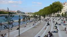 Rhone River Banks - In Situ Architectes Paysagistes - wish the Danube-side in Budapest would look like this