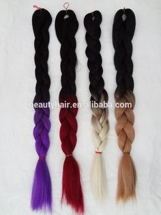 Wholesale ombre color jumbo braiding hair,$ 2.60 Hair ExtensionSynthetic HairNon-Remy Hair.Source from Xuchang BeautyHair Fashion Co., Ltd. on Alibaba.com.