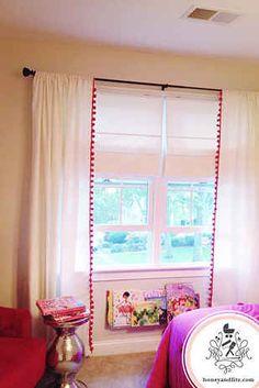 31 Brilliant Ikea Hacks Every Parent Should Know http://honeyandfitz.com/2013/05/30/diy-ikea-hacked-pom-pom-trimmed-curtains/