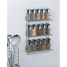 Organize It All 3-Tier Wall-Mounted Spice Rack - Chrome (...…