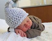 Crochet Tie Top Baby Beanie by KraftyShack on Etsy, $20.00 USD