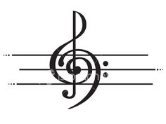 treble & bass clefs intertwined