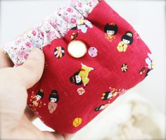 Cotton snap top coin purse/ lanyard pouch by sophinegiam on Etsy, $8.00