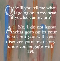 """Interesting quote about """"art therapy"""""""