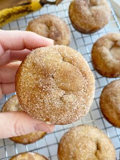 Banana Muffins are soft, bake up perfectly round, and topped with cinnamon & sugar. One bowl is all you need to make the best banana bread muffins. No mixer needed! Cinnamon Banana Bread, Banana Bread Muffins, Make Banana Bread, Cinnamon Muffins, Applesauce Muffins, Quick Bread Recipes, Muffin Recipes, Cake Recipes, Dessert Recipes