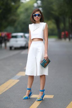 Street style: 25 looks inspirants pour porter le #blanc - #streetstyle #Milan