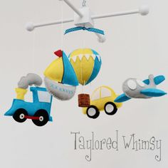 Transportation Mobile  Custom Baby Mobile not by TayloredWhimsy,