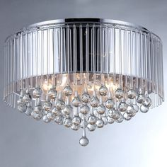 Shop for Robin Chrome-finish Crystal Chandelier. Get free shipping at…