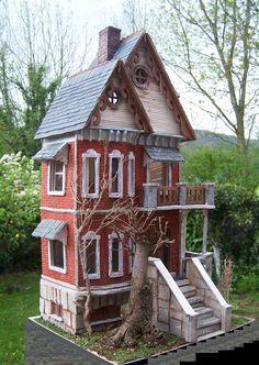 Miniaturas y casas de muñecas: Fachada casa gótica