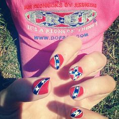 Rebel flag nails @Holly Hanshew Hanshew Hanshew Hargis