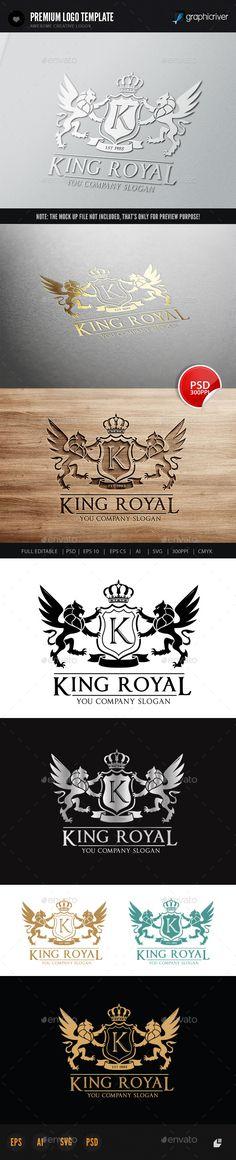 King Royal Logo II — Photoshop PSD #Animal Logo #unicorn • Available here → https://graphicriver.net/item/king-royal-logo-ii/6020985?ref=pxcr