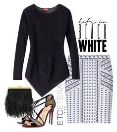 """""""Etcetera Summer 2016: Raven Sweater with the Intricate Skirt"""" by timirac on Polyvore featuring Etcetera and Christian Louboutin"""