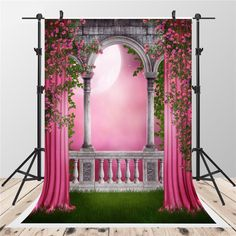 Vintage arch printed newborn birthday pink fairy tale photo backdrops backdrop for studio backgrounds Photography Studio Background, Studio Background Images, Girl Background, Photo Background Images, Photo Backgrounds, Backdrop Background, Wedding Background, Paper Background, Studio Backdrops
