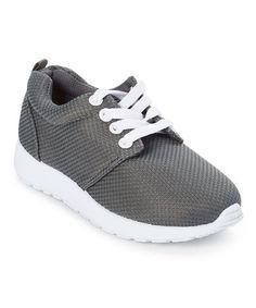 Gray Textured Sneaker #zulily #zulilyfinds