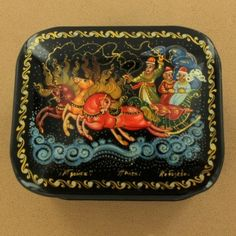 Troika Russian Lacquer Box $110.00 - Hand-painted