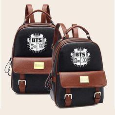 Cheap bts backpack, Buy Quality leather backpack directly from China backpack high quality Suppliers: Women BTS Backpack High Quality Youth Leather Backpacks for Teens Girls Female School Shoulder Bag mochila Rucksack Bts Backpack, Backpack For Teens, Backpack Bags, Fashion Backpack, Duffle Bags, Messenger Bags, Bags For Teens, Girls Bags, Mochila Kpop