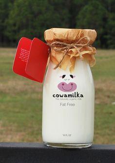 Botella de vaca #Creatividad #Packaging