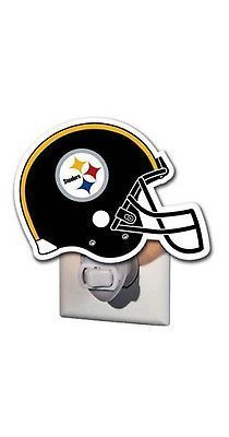 Pittsburgh Steelers Hand Painted Glass Night Light - Helmet Design