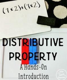 Introducing the distributive property of multiplication with Unifix Cubes and hands-on manipulation of area models. Teaching Multiplication, Teaching Math, Teaching Ideas, Distributive Property Of Multiplication, Maths Algebra, Math Resources, Math Activities, Math Games, Math Strategies