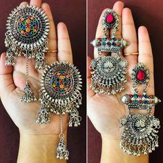 Combo Of 2 Silver earrings , antique silver earrings,Ethnic Indian earrings,Boho style earrings, Art Deco style Bollywood earrings set Bridal Jewellery Inspiration, Indian Bridal Jewelry Sets, Indian Jewelry Earrings, Silver Jewellery Indian, Jewelry Design Earrings, Silver Earrings, Silver Jewelry, Stud Earrings, Antique Jewellery Designs
