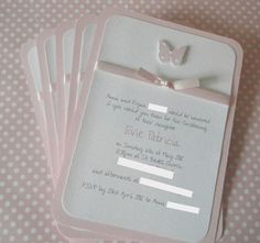 Christening/Baptism/Dedication Invitations by LittleDarlingsUK, £27.50