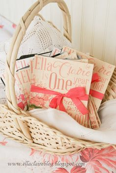 {Ella Claire}: {Tutorial} How to print on fabric and make into an invitation!