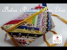 PAP - Bolsa Rosana Duo Uso (com retalhos) - Mão e transversal - Ateliê Essência de Lis - YouTube