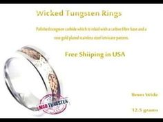"""""""Rings For Men"""" #Creative #Art in #fashion @Touchtalent   #tungstenrings"""