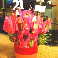21st Birthday gift for my sister. 21 shots for your 21st birthday!!