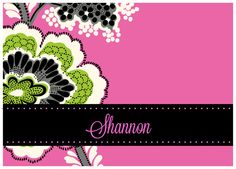 Vera Inspired Personalized Notecards: Pink and Priscilla.  GREAT idea for bridesmaids gifts.