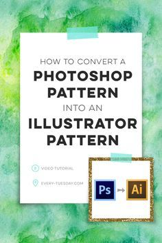 Learn how to convert any Photoshop pattern you have into an Illustrator Pattern swatch! https:∕∕every-tuesday.com∕convert-photoshop-pattern-illustrator-pattern