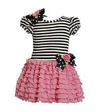Product: Bonnie Jean® Girls' 2T-4T Black/White Striped Tutu Dress