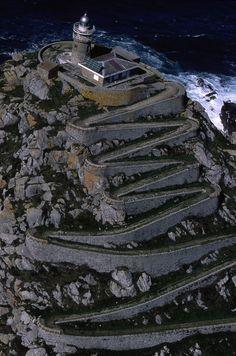 Lighthouse in Vigo, Galicia, Spain`