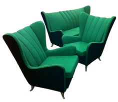 Sofa and Armchairs Designed by I.S.A