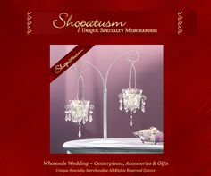 Wholesale Centerpieces, Lighting, Candle Holders, Lanterns, Candelabras, great for Weddings, Parties, Receptions, Restaurants and special occasions. www.shopatusm.com/