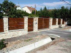 Garden Retaining Wall, Garden Fence Panels, Lattice Fence, Front Yard Fence, Garden Gates, Fence Gate Design, Modern Fence Design, Main Gate Design, Brick Columns
