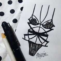 @victoriassecret ♥ #draw #drawing #fashion #love #inlove #fashionillustration #illustration #lingerie #intimates #instagood #fashiondesign #black #designdemoda #moda #art #arte #croqui #handmade #lookdodia #lookoftheday #lace #fashion4arts #victoriasecrets